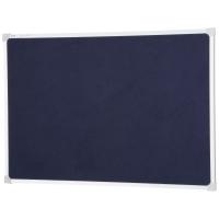 QUARTET ALUMINIUM FRAME FELT PIN BOARD BLUE 900 X 600MM - EACH