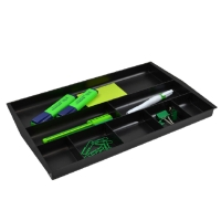 ITALPLAST DRAWER TIDY RECYCLED BLACK - EACH