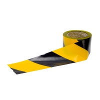 FRONTIER NON-ADHESIVE BARRIER TAPE 75MM X 100M YELLOW/BLACK - ROLL