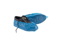 FRONTIER DISPOSABLE WATERPROOF SHOE COVERS BLUE - BOX OF 100