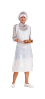 DISPOSABLE APRON 1350MM X 810MM WHITE - BOX OF 100