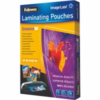 FELLOWES LAMINATING POUCHES 80 MICRONS A4 - BOX OF 100