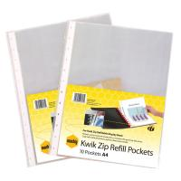 MARBIG DISPLAY BOOK KWIKZIP REFILL A4 - PACK OF 10