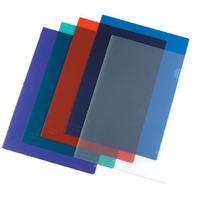 MARBIG LETTER FILE  ULTRA CUT FLUSH POLYPROPYLENE A4BLUE - BOX  OF 100