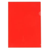 MARBIG LETTER FILE  ULTRA CUT FLUSH POLYPROPYLENE A4RED - BOX  OF 100