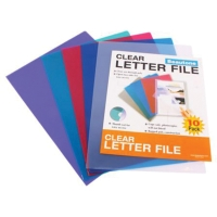 BEAUTONE LETTER FILE E CUT FLUSH A4ASSORTED - PACK  OF 10