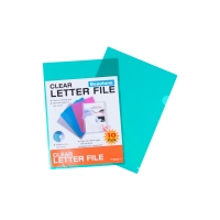 BEAUTONE LETTER FILE E CUT FLUSH A4GREEN - PACK  OF 10