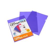 BEAUTONE LETTER FILE E CUT FLUSH A4PURPLE - PACK  OF 10
