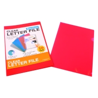 BEAUTONE LETTER FILE E CUT FLUSH A4RED - PACK  OF 10