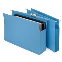 MARBIG SUSPENSION FILES EXPANDING HORIZONTAL FOOLSCAP BLUE - BOX OF 20