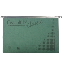 CRYSTALFILE SUSPENSION FILES  CLASSIC HORIZONTAL FOOLSCAP GREEN - BOX OF 50