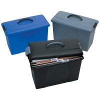 CRYSTALFILE CARRY CASE CRYSTALFILE TWINLOCK BLUE/BLACK - EACH