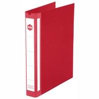 MARBIG RING BINDER  4D-RING PVC 25MM RED - EACH