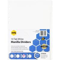 MARBIG DIVIDERS  10-TAB CARDBOARD A4 WHITE - EACH