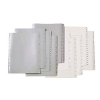 MARBIG DIVIDERS  1-10 POLYPROPYLENE  A4 WHITE - EACH