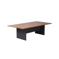 RAPIDLINE WORKER BOARDROOM TABLE IRONSTONE BASE 2400X1200 BEECH - EACH