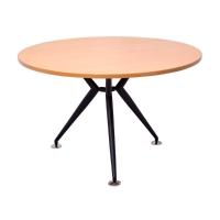 RAPID WORKER 1200 ROUND TABLE BLACK STEEL BASE BEECH - EACH