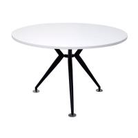 RAPID WORKER 900 ROUND TABLE BLACK STEEL BASE WHITE - EACH