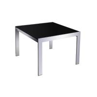 RAPIDLINE COFFEE TABLE 600X600 GLASS/CHROME - EACH