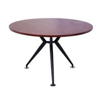 RAPID ROUND MEETING TABLE 1200 BLACK STEEL BASE APPLE  - EACH