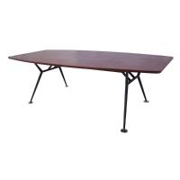 RAPIDLINE BOARDROOM TABLE BLACK STEEL BASE 2400X1200 APPLE - EACH