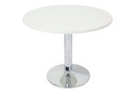 RAPIDLINE CHROME BASE TABLE WITH 600 ROUND TOP WHITE - EACH