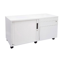 RAPIDLINE MOBILE CADDY WITH SIDE PULL LEFT HAND TAMBOUR 1050W WHITE - EACH