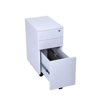 RAPIDLINE GO STEEL MOBILE PEDESTAL 3 DRAW 300WX472DX610H WHITE CHINA - EACH