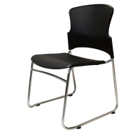 RAPIDLINE ZING LINK CHAIR POLY SEAT AND BACK BLACK - EACH