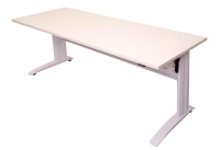 RAPID  ELECTRIC HEIGHT ADJUSTABLE DESK 1200X700 COMPLETE WHITE TOP/WHITE - EACH