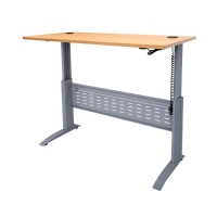 RAPID ELECTRIC HEIGHT ADJUSTABLE DESK 1800 X 700 COMPLETE BEECH TOP/SILVER - EAC