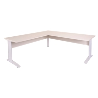 RAPID 1800WX700D/1100WX600DX730H DESK RETURN TIMBER MODESTY WHITE TOP/WHITE - EA