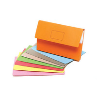 MARBIG DOCUMENT WALLET SLIMPICK EXPANDING FOOLSCAP ASSORTED - PACK OF 10