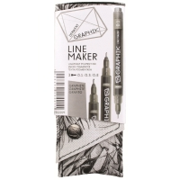 DERWENT GRAPHIK LINE MAKER GRAPHITE - PACK OF 3