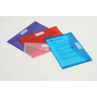 MARBIG DOCUMENT - WALLET POLYPROPYLENE A4RED  - EACH