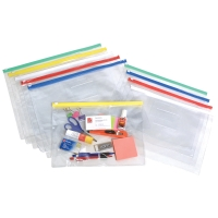 MARBIG CLEAR CASE WITH ZIP A4 - PACK OF 12