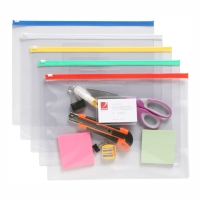MARBIG CLEAR CASE WITH ZIP A5 - PACK OF 24