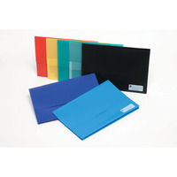 MARBIG DOCUMENT - WALLET POLYPICK WITH GUSSET FOOLSCAP RED  - EACH