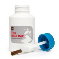 EDUCATIONAL COLOURS GLUE POT 220ML - PACK OF 6