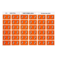 AVERY 2 SIDE TAB COLOUR CODING LABELS FOR LATERAL FILING, ORANGE, 180 LABELS