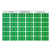AVERY 4 SIDE TAB COLOUR CODING LABELS FOR LATERAL FILING, L/GREEN, 180 LABELS