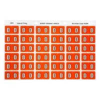 AVERY D SIDE TAB COLOUR CODING LABELS FOR LATERAL FILING, D/ORANGE, 180 LABELS