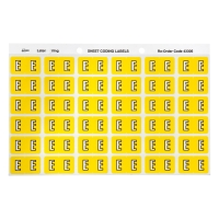 AVERY E SIDE TAB COLOUR CODING LABELS FOR LATERAL FILING, YELLOW, 180 LABELS