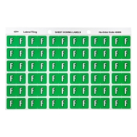AVERY F SIDE TAB COLOUR CODING LABELS FOR LATERAL FILING, L/GREEN, 180 LABELS
