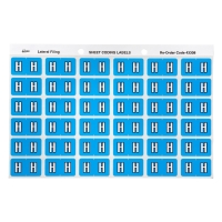 AVERY H SIDE TAB COLOUR CODING LABELS FOR LATERAL FILING, BLUE, 180 LABELS