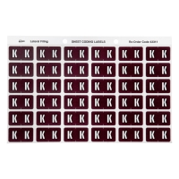 AVERY K SIDE TAB COLOUR CODING LABELS FOR LATERAL FILING, BROWN, 180 LABELS