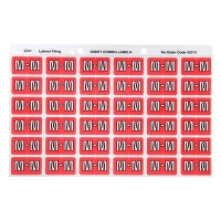 AVERY M SIDE TAB COLOUR CODING LABELS FOR LATERAL FILING, PINK, 180 LABELS