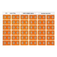 AVERY O SIDE TAB COLOUR CODING LABELS FOR LATERAL FILING, ORANGE, 180 LABELS