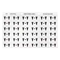 AVERY Y SIDE TAB COLOUR CODING LABELS FOR LATERAL FILING, WHITE, 180 LABELS