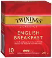 TWININGS TEA BAGS  ENGLISH BREAKFAST - BOX OF 10